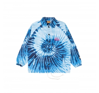 BACK LOGO TIE DYE JACKET IN BLUE
