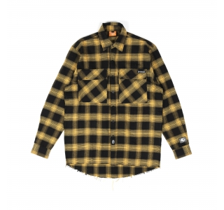FLANNEL SHIRT IN BLACK/YELLOW