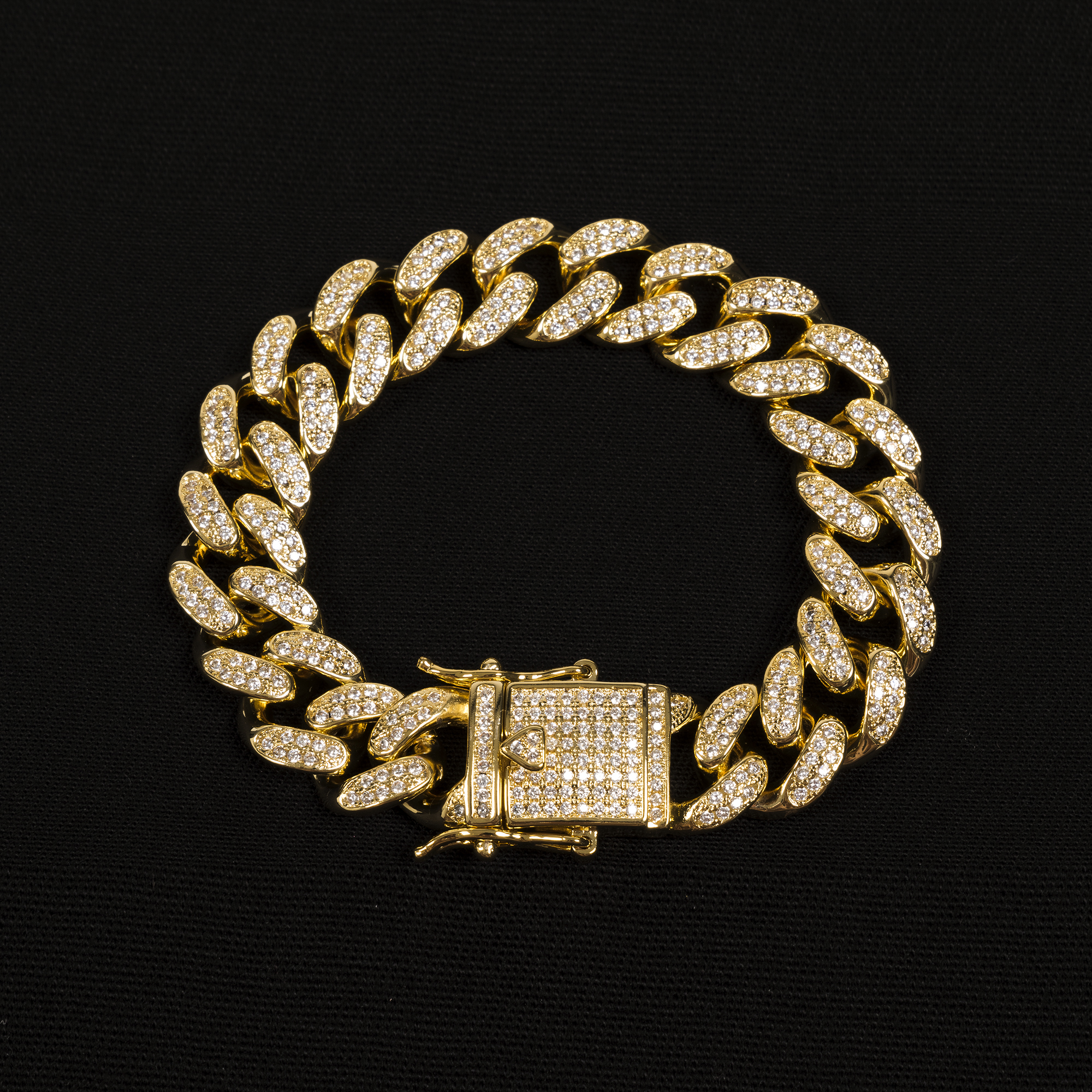 CUBAN LINK BRACELET SLIM IN GOLD/SILVER