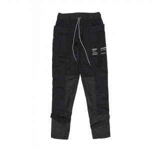 COMBAT PANTS WITH TECHWEAR STRAP IN BLACK